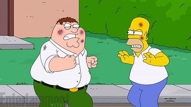 SIMPSONS-FAMILY-GUY-FIGHT